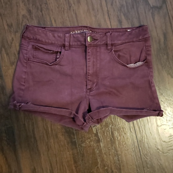American Eagle Red Shorts